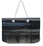 Water And The Ice - Icy River Danube Weekender Tote Bag