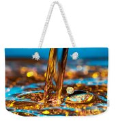 Water And Oil Weekender Tote Bag by Setsiri Silapasuwanchai