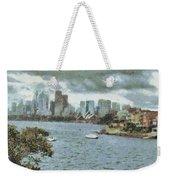 Water And Skyline Weekender Tote Bag