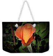 Water Beads On Orange Rose Weekender Tote Bag