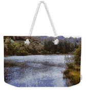 Water Body Surrounded By Greenery Weekender Tote Bag