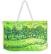 Water Color Of Apple Orchard Farm Weekender Tote Bag