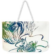 Water Color Poster Of Good And Evil Weekender Tote Bag