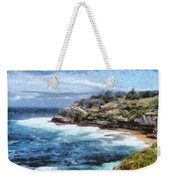 Water Cove With Rocky Cliffs Weekender Tote Bag
