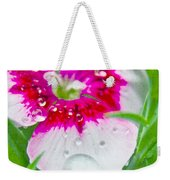 Water Diamond On White Weekender Tote Bag