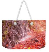 Water Dripping On The Rock Wall Weekender Tote Bag