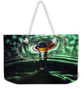 Water Drop Collision Weekender Tote Bag