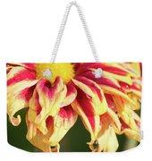 Water Drop On A Chrysanthemum Weekender Tote Bag
