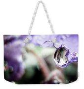 Water Drop On Purple Flower Weekender Tote Bag