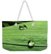 Water Droplet On A Leaf Weekender Tote Bag