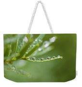 Water Droplets On Evergreen Weekender Tote Bag