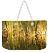 Water Grass In Sunset Weekender Tote Bag