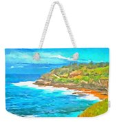 Water Gushing In On A Natural Cove Weekender Tote Bag