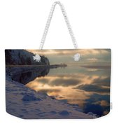 Water Ice Light And Highway 97 Weekender Tote Bag