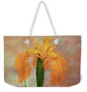 Water Iris - Textured Weekender Tote Bag