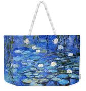 water lilies a la Monet Weekender Tote Bag