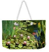 Water Lilies And Koi Pond Weekender Tote Bag