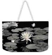 Water Lilies In Black And White Weekender Tote Bag