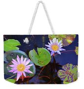 Water Lilies In Kauai Weekender Tote Bag
