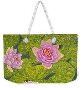 Water Lilies Lily Flowers Lotuses Fine Art Prints Contemporary Modern Art Garden Nature Botanical Weekender Tote Bag