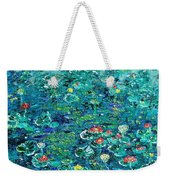 Water Lilies Lily Pad Lotus Water Lily Paintings Weekender Tote Bag