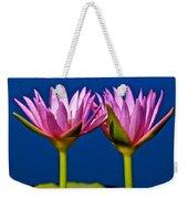 Water Lilies Touching Weekender Tote Bag