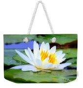 Water Lily - Digital Painting Weekender Tote Bag