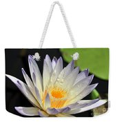 water lily 48 Green Smoke Weekender Tote Bag