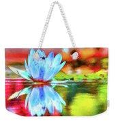 Water Lily And Bee Pastel Weekender Tote Bag