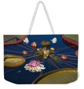 Water Lily And Platters Weekender Tote Bag