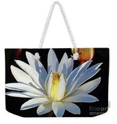 Water Lily At Dusk Weekender Tote Bag