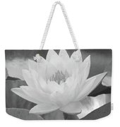 Water Lily - Burnin' Love 15 - Bw - Water Paper Weekender Tote Bag