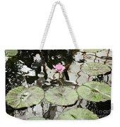 Water Lily Canvas Weekender Tote Bag