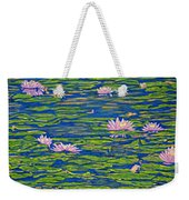 Water Lily Flowers Happy Water Lilies Fine Art Prints Giclee High Quality Impressive Color Lotuses Weekender Tote Bag