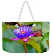 Water Lily In Tahiti Weekender Tote Bag