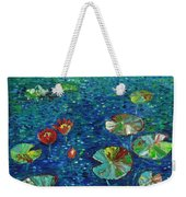 Water Lily Lotus Lily Pads Paintings Weekender Tote Bag