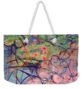 Water Lily Monotype Weekender Tote Bag