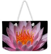Water Lily On Fire Weekender Tote Bag