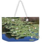 Water Lily Pond Weekender Tote Bag