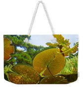 Water Lily Sky Weekender Tote Bag