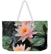 Water Lily Trio Weekender Tote Bag