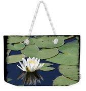 Water Lily With Black Border Weekender Tote Bag
