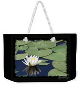 Water Lily With Black Border Weekender Tote Bag