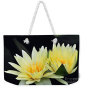Water Lily Yellow Nymphaea Weekender Tote Bag