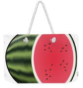 Water Melon Outlined Weekender Tote Bag