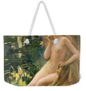 Water Nymph Weekender Tote Bag by Gaston Bussiere