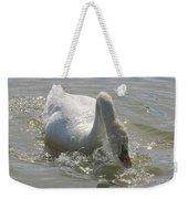 Water Off A Swan's Back Weekender Tote Bag
