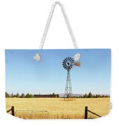 Water Pump Windmill At Wheat Farm In Rural Oregon Weekender Tote Bag