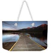Water Reflections At Pyramid Lake Weekender Tote Bag