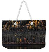 Water Reflections In Autumn Weekender Tote Bag